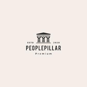 Logotipo de pilar de derecho de personas