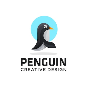 Logotipo de pingüino, mejor calidad, papel tapiz fotográfico, póster, adhesivo.