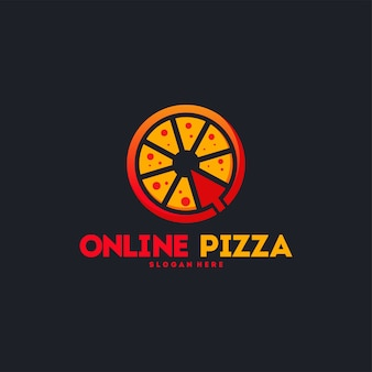 Logotipo de pizza en línea