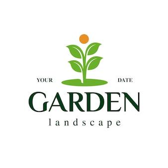 Logotipo de la planta de jardín