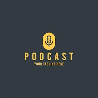 Logotipo de plantilla de podcast moderno