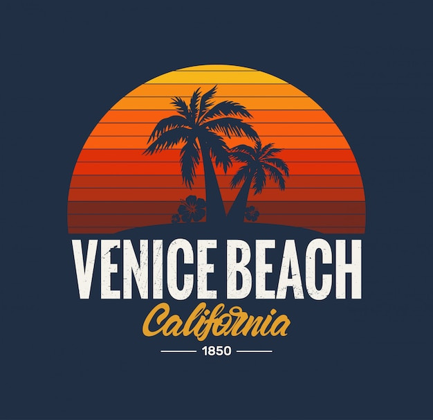 Logotipo de la playa de california venice