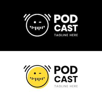 Logotipo de podcast detallado