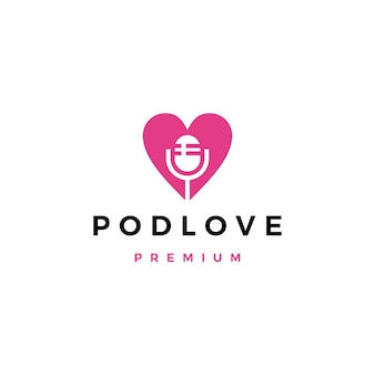 Logotipo de podcast de mic love