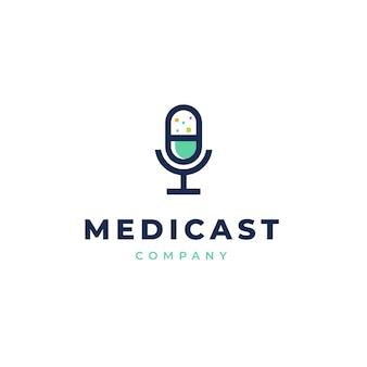 Logotipo de podcast de salud