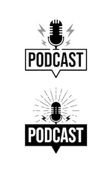 Logotipo de podcast