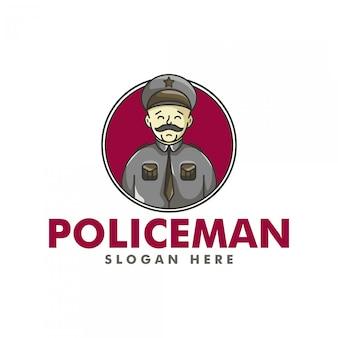 El logotipo del policía