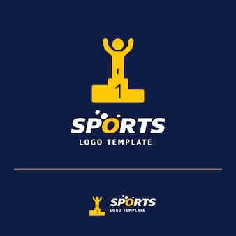 Logotipo de posición de carrera deportiva