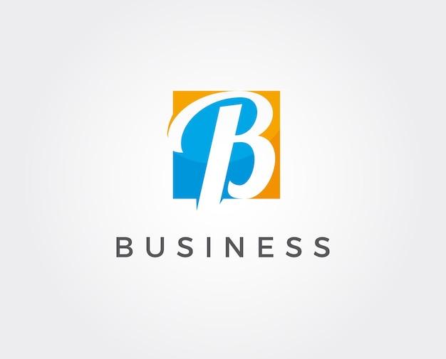 Logotipo premium b en dos variaciones de color.