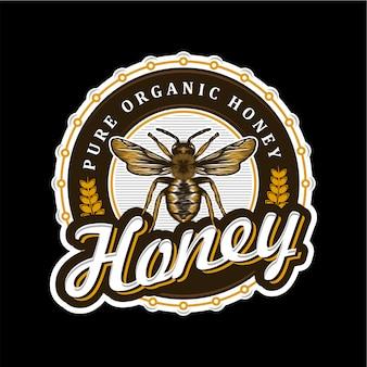 Logotipo para productos de miel o granjas de abejas.