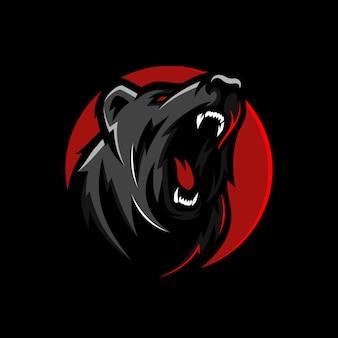 Logotipo profesional moderno del oso pardo para un equipo deportivo