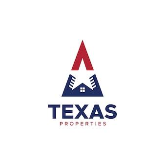 Logotipo de propiedades de texas