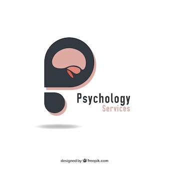 Logotipo de psicología abstracto