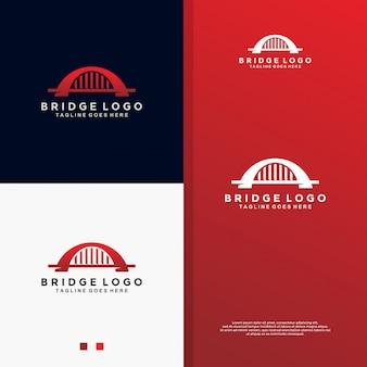 Logotipo del puente rojo