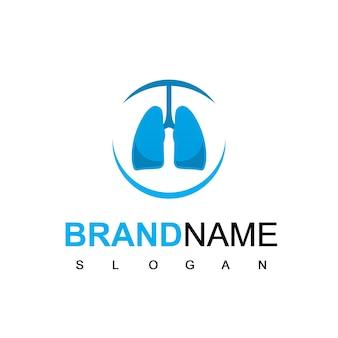 Logotipo de pulmón para hospital o empresa de atención médica