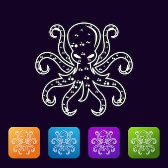 Logotipo de pulpo abstracto