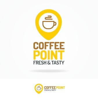 Logotipo de punto de café.