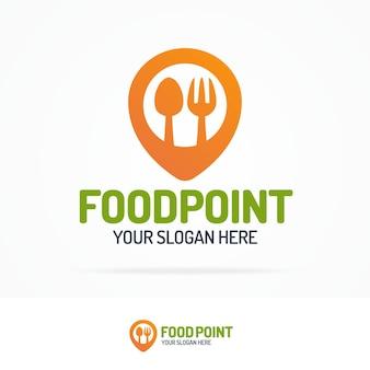 Logotipo de punto de comida.