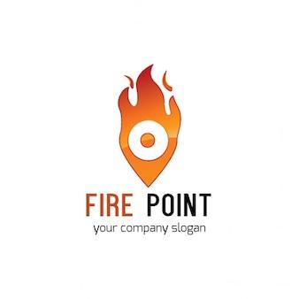 Logotipo punto de incendios