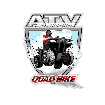 Logotipo de quad atv