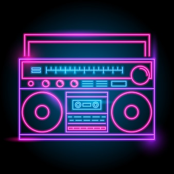 Logotipo de radio neón