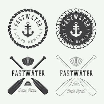 Logotipo de rafting, etiquetas