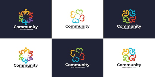 Logotipo de red social, colección de logotipos comunitarios.