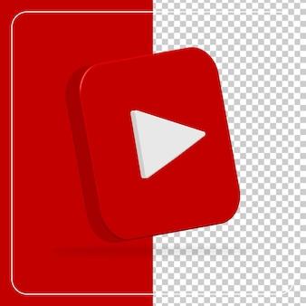 Logotipo de redes sociales 3d