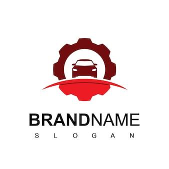 Logotipo de reparación símbolo de centro de servicio automotriz