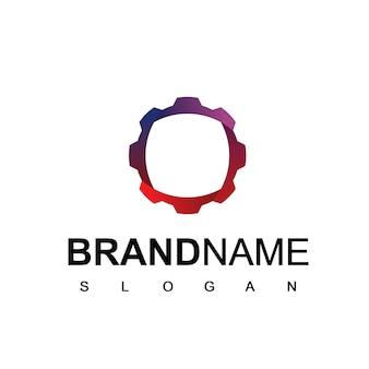 Logotipo de reparación con símbolo de engranaje