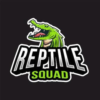 Logotipo de reptile esport