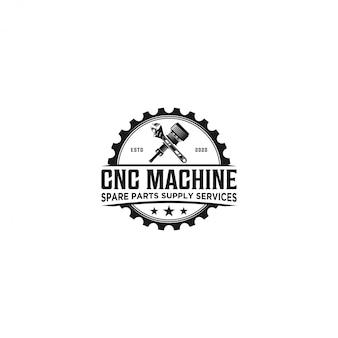 Logotipo de repuesto de servicio de máquina cnc