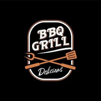 Logotipo para un restaurante de barbacoa con un estilo vintage.