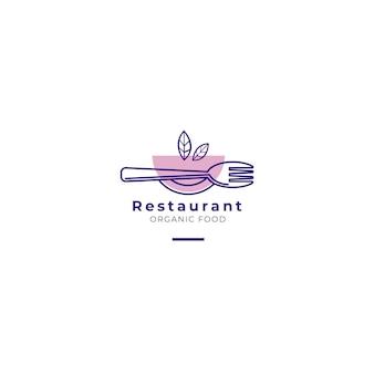 Logotipo de restaurante de comida orgánica