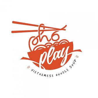 Logotipo de restaurante de fideos