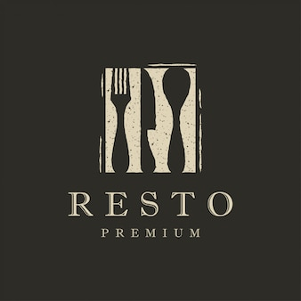 Logotipo de restaurante plano