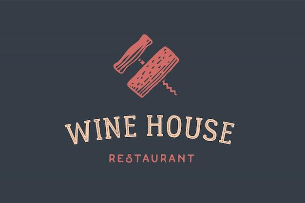 Logotipo de restaurante de vinos