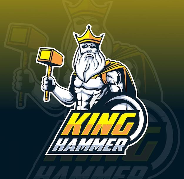 Logotipo de rey mascota esport