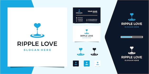 Logotipo de ripple water + love