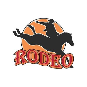 Logotipo de rodeo para su negocio deportivo