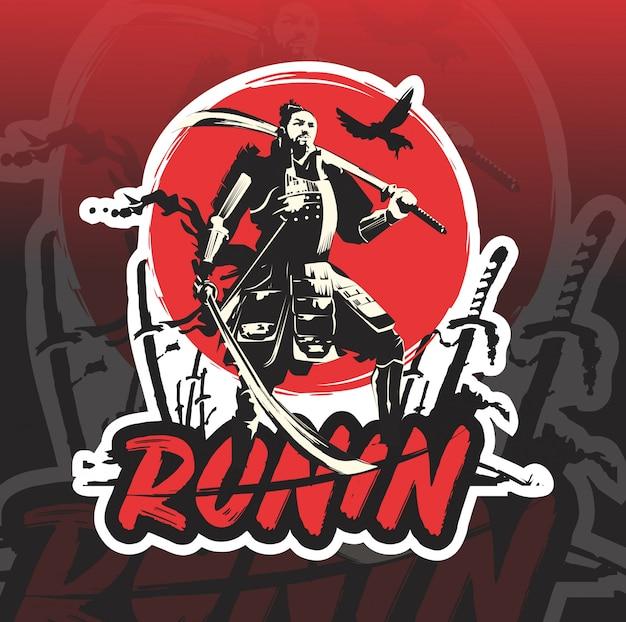 Logotipo de ronin mascot esport