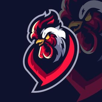 Logotipo de rooster esport gaming