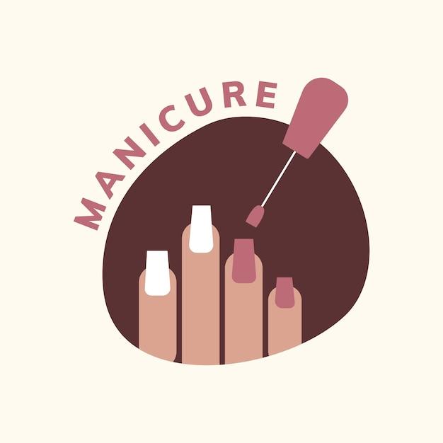 Logotipo del salón de manicura y pedicura.