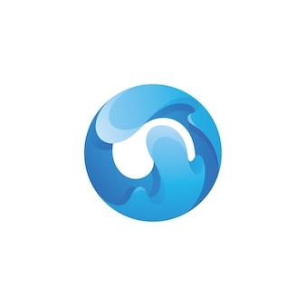 Logotipo de salpicaduras de agua líquida abstracta