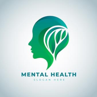 Logotipo de salud mental degradado