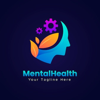 Logotipo de salud mental degradado