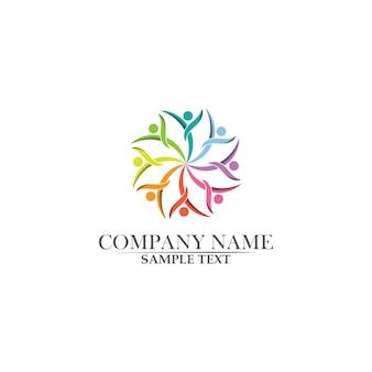 Logotipo de salud y vida de éxito