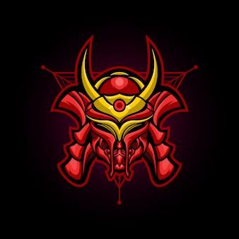 Logotipo de samurai steel e sport