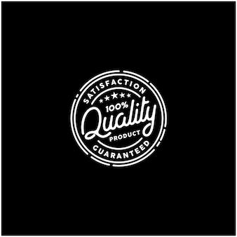 Logotipo de sello de producto de calidad 100% garantizada