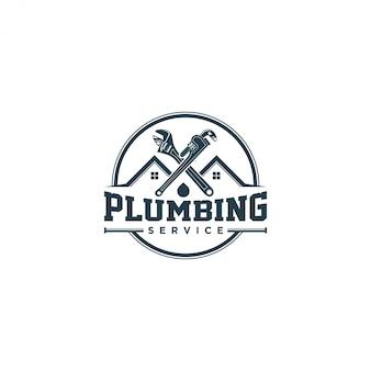 Logotipo de servicio de fontanería